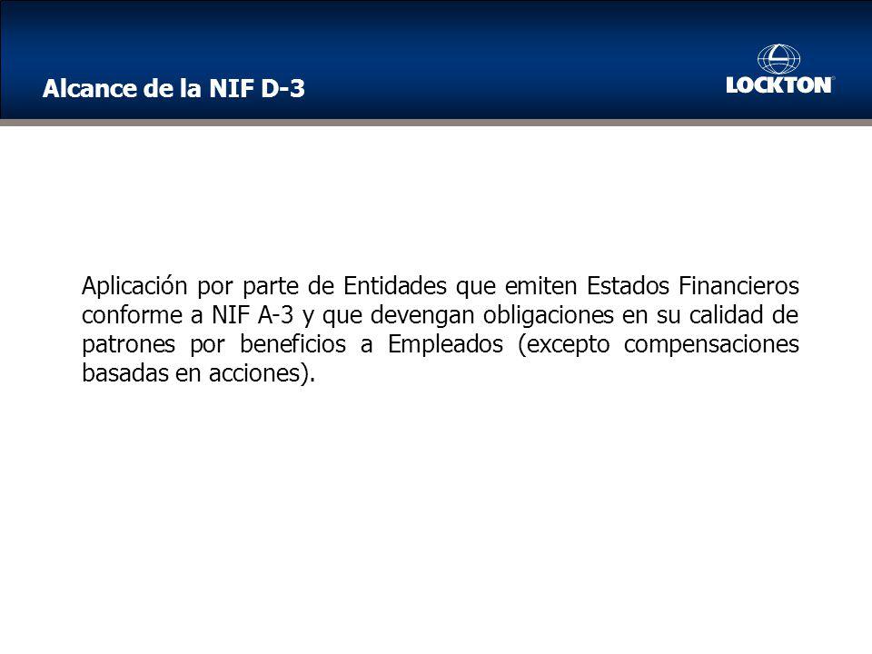 Alcance de la NIF D-3
