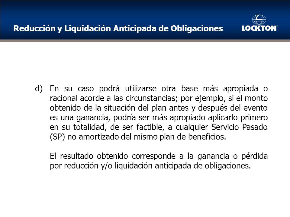 Reducción y Liquidación Anticipada de Obligaciones