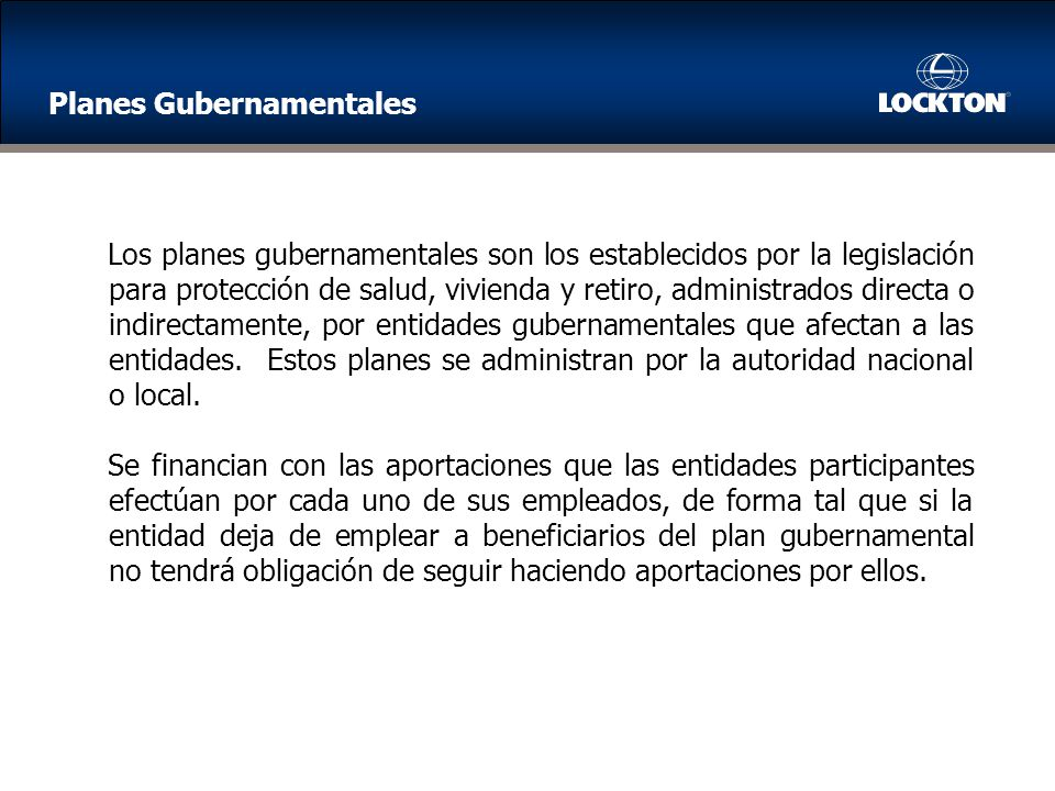 Planes Gubernamentales