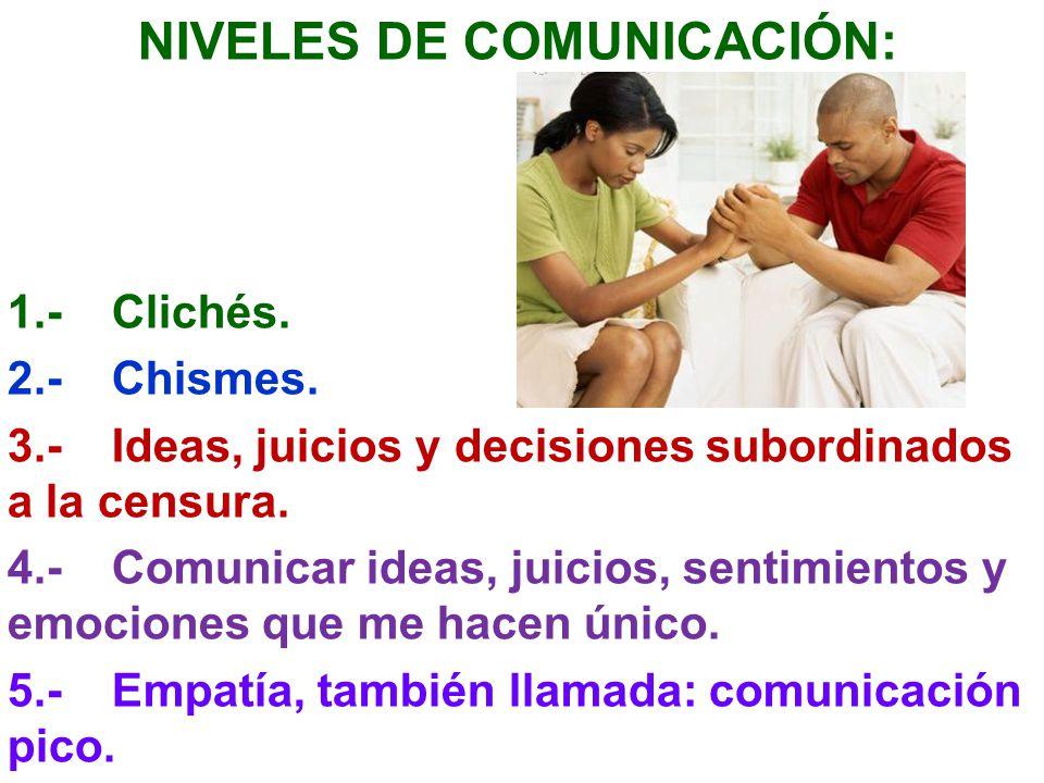 NIVELES DE COMUNICACIÓN: