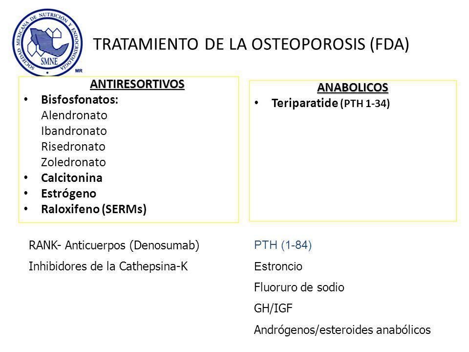 TRATAMIENTO DE LA OSTEOPOROSIS (FDA)