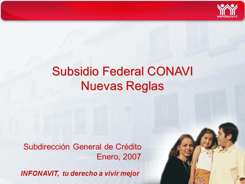 Subsidio Federal CONAVI Nuevas Reglas