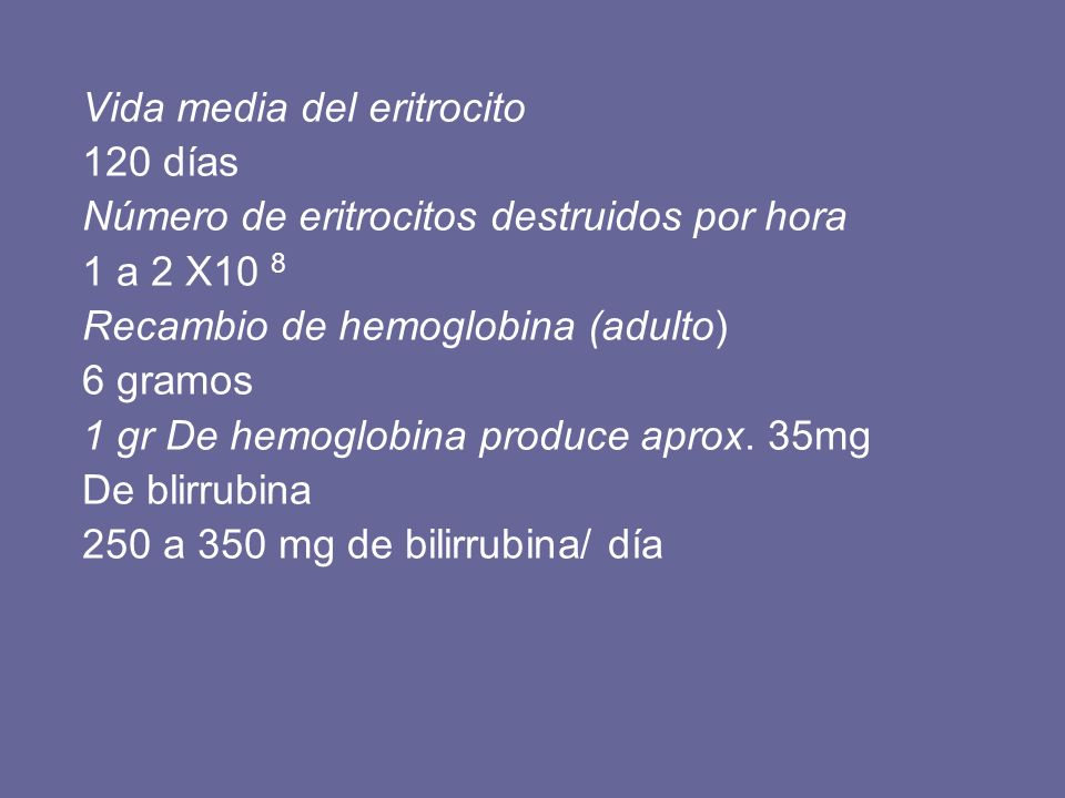 Vida media del eritrocito