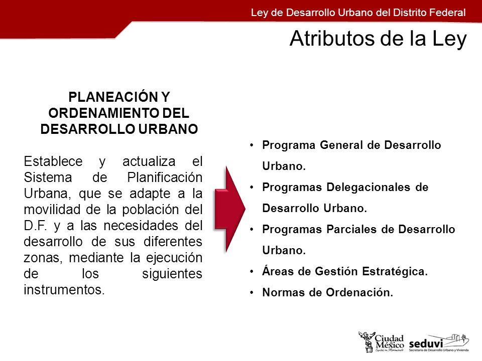 PLANEACIÓN Y ORDENAMIENTO DEL DESARROLLO URBANO