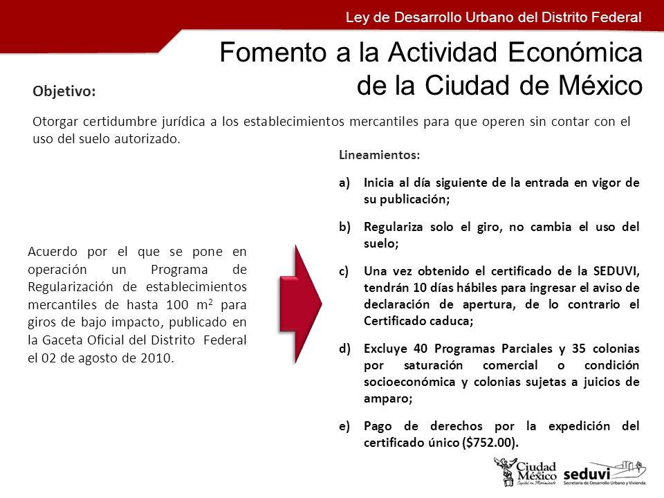 Fomento a la Actividad Económica de la Ciudad de México