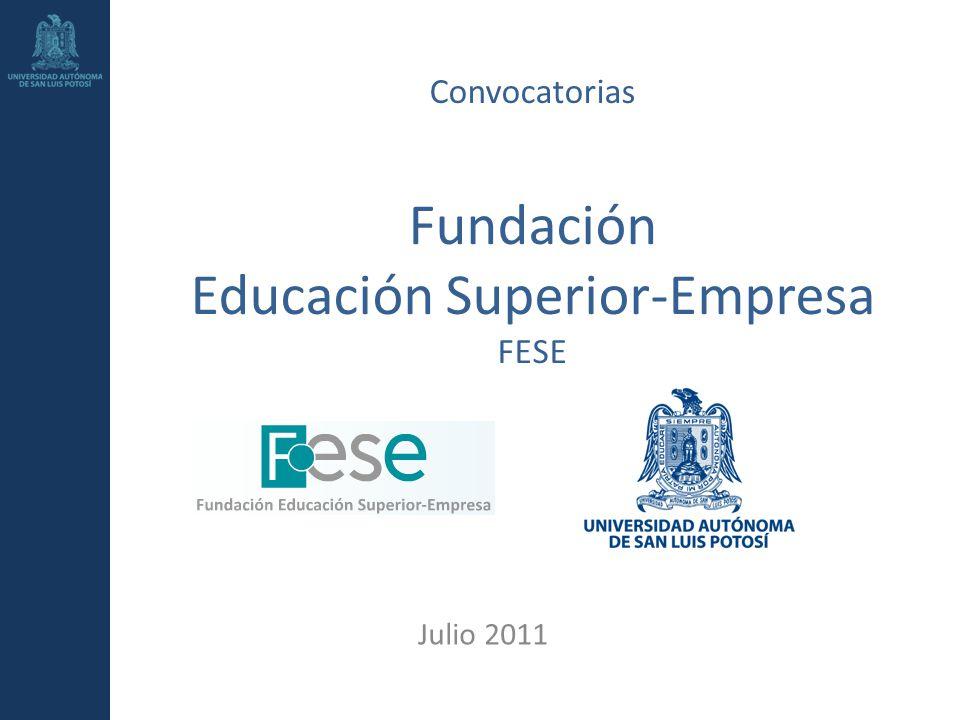 Convocatorias Fundación Educación Superior-Empresa FESE