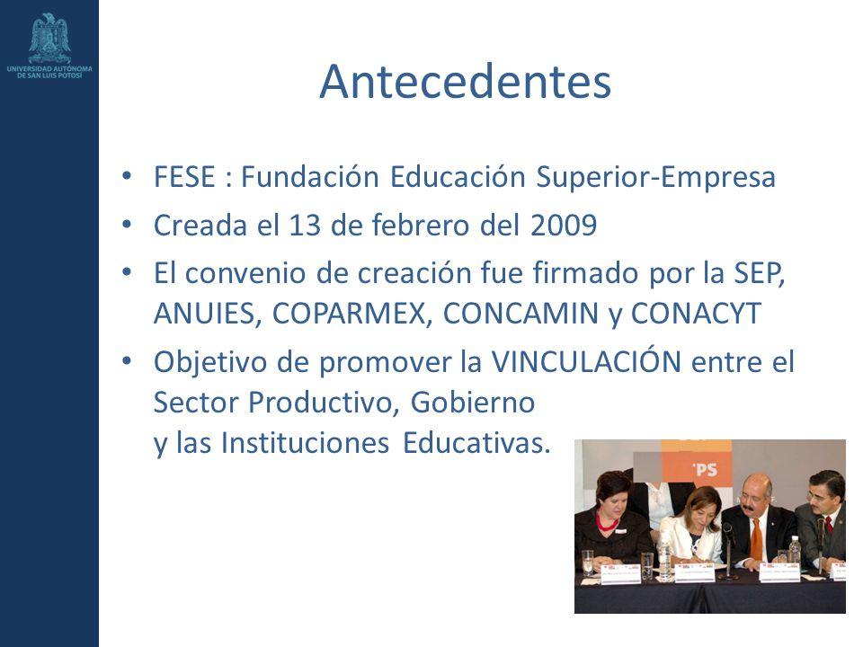 Antecedentes FESE : Fundación Educación Superior-Empresa