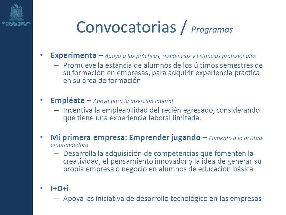 Convocatorias / Programas