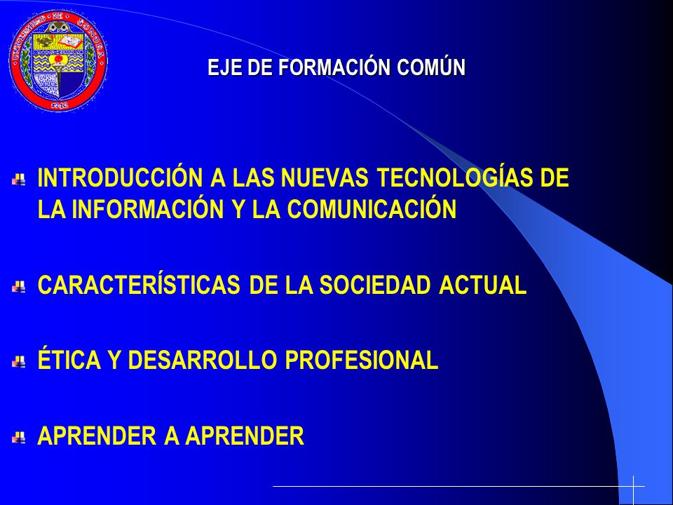 CARACTERÍSTICAS DE LA SOCIEDAD ACTUAL ÉTICA Y DESARROLLO PROFESIONAL