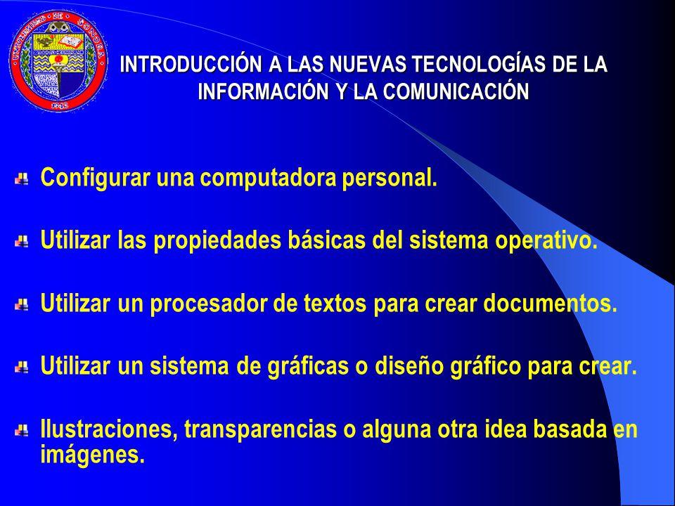Configurar una computadora personal.