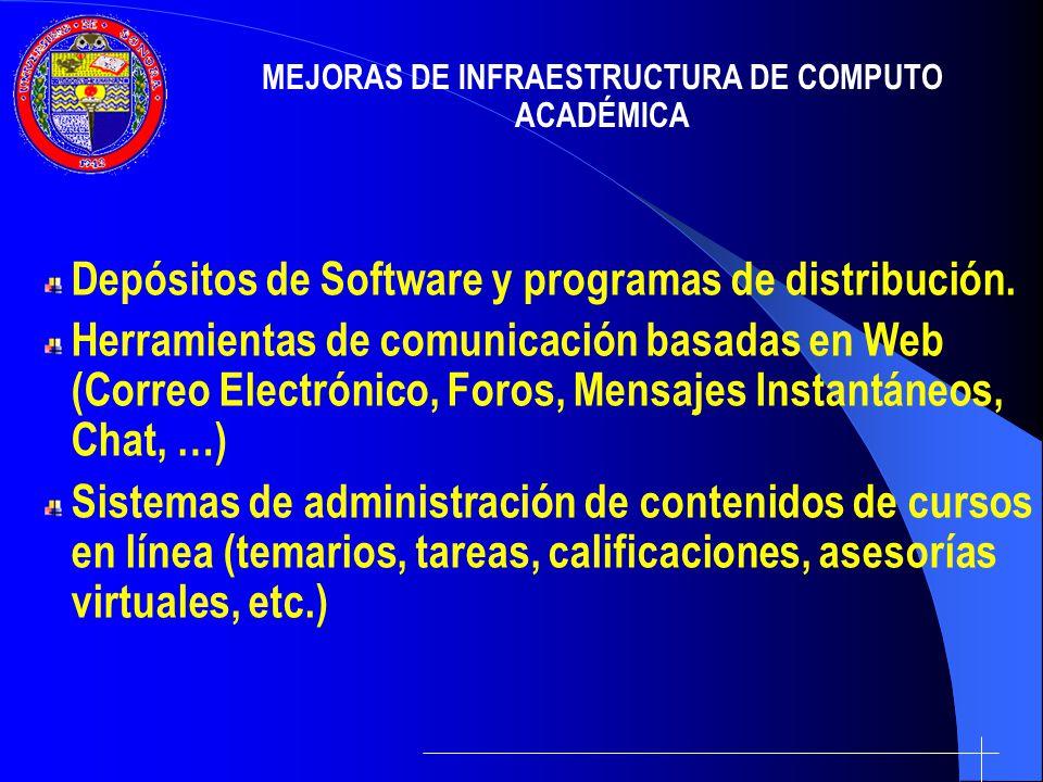 MEJORAS DE INFRAESTRUCTURA DE COMPUTO ACADÉMICA
