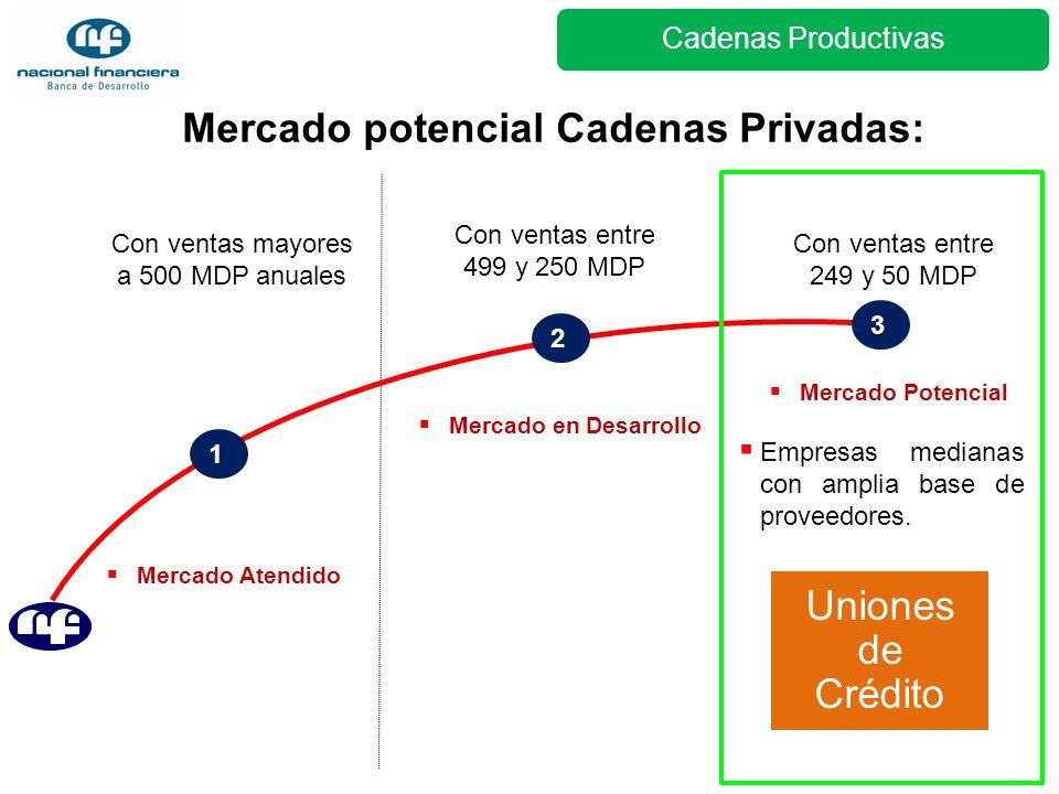 Mercado potencial Cadenas Privadas: