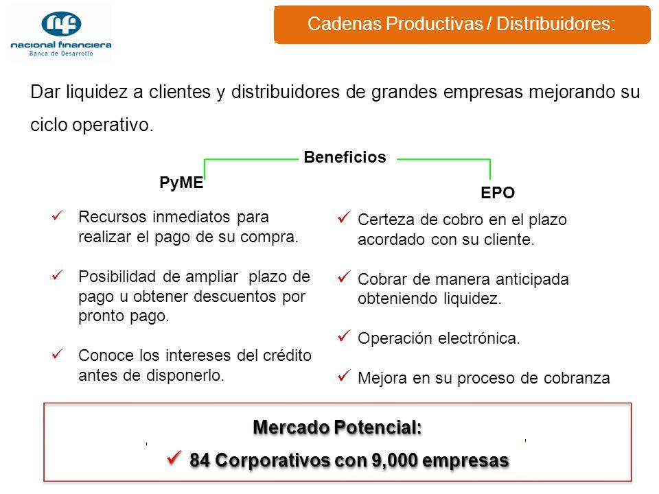 84 Corporativos con 9,000 empresas