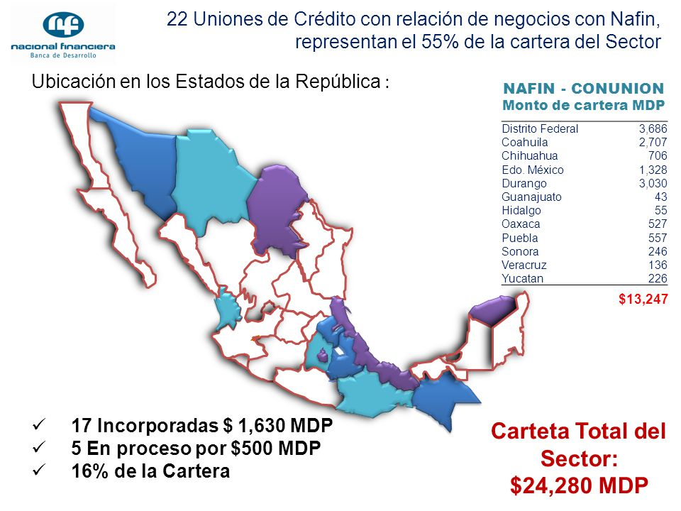 Carteta Total del Sector: