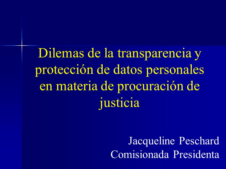 Jacqueline Peschard Comisionada Presidenta
