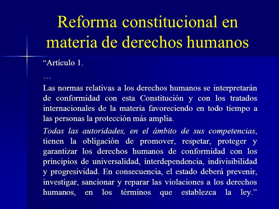 Reforma constitucional en materia de derechos humanos