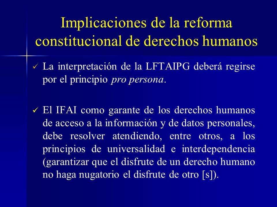 Implicaciones de la reforma constitucional de derechos humanos