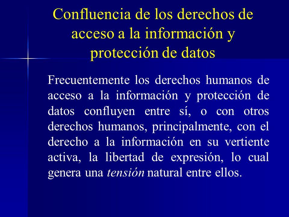 Confluencia de los derechos de acceso a la información y protección de datos