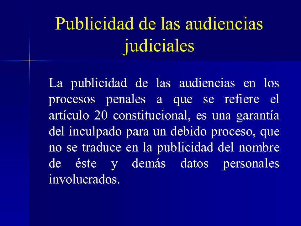 Publicidad de las audiencias judiciales
