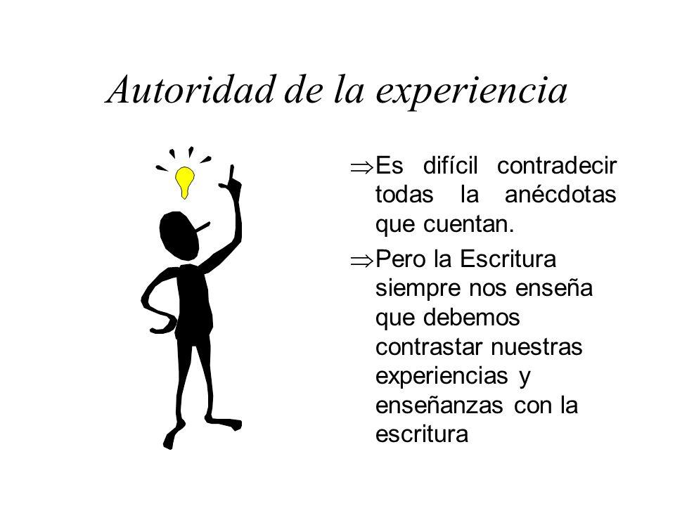 Autoridad de la experiencia