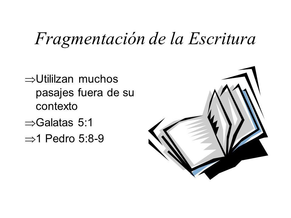 Fragmentación de la Escritura