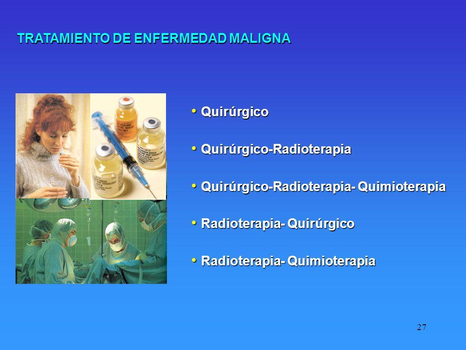 TRATAMIENTO DE ENFERMEDAD MALIGNA