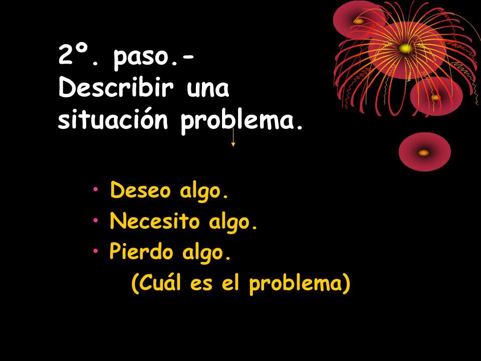 2º. paso.- Describir una situación problema.