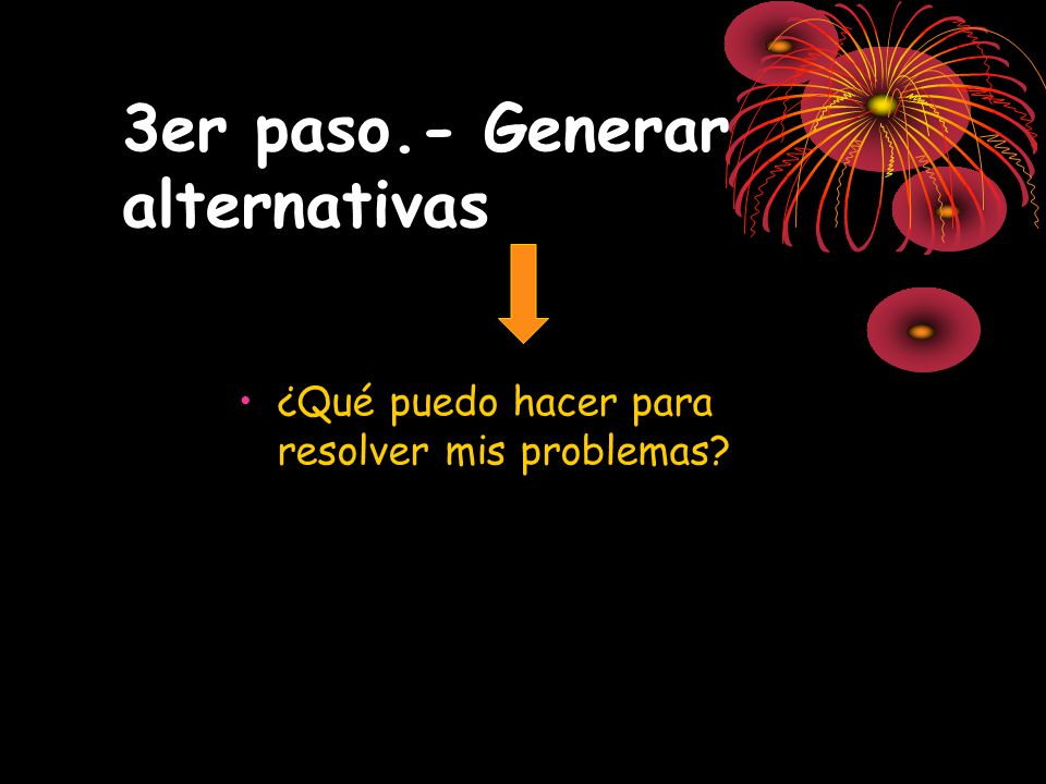 3er paso.- Generar alternativas