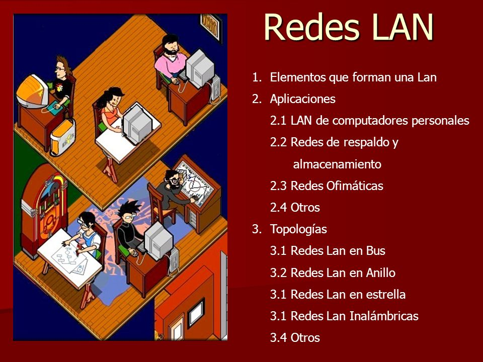 Redes LAN Elementos que forman una Lan Aplicaciones