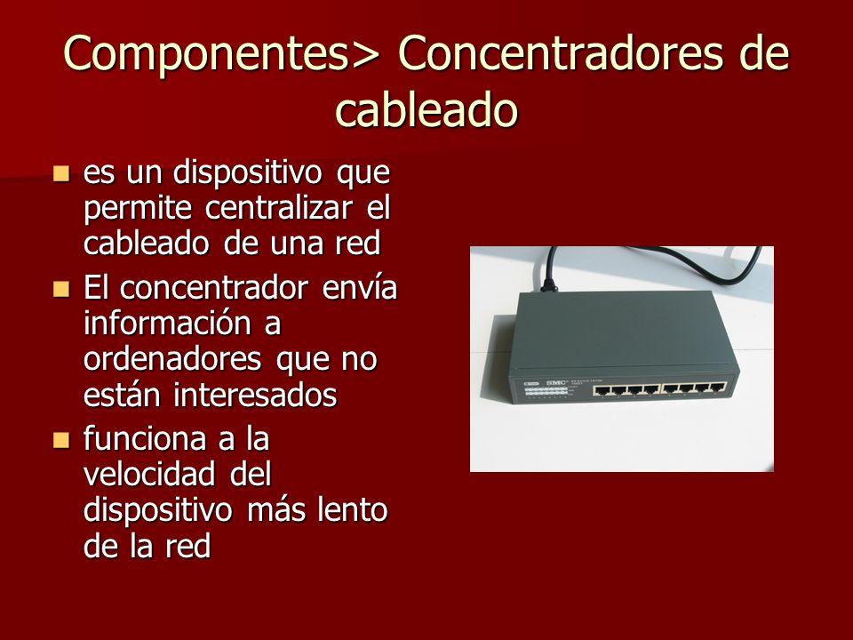 Componentes> Concentradores de cableado