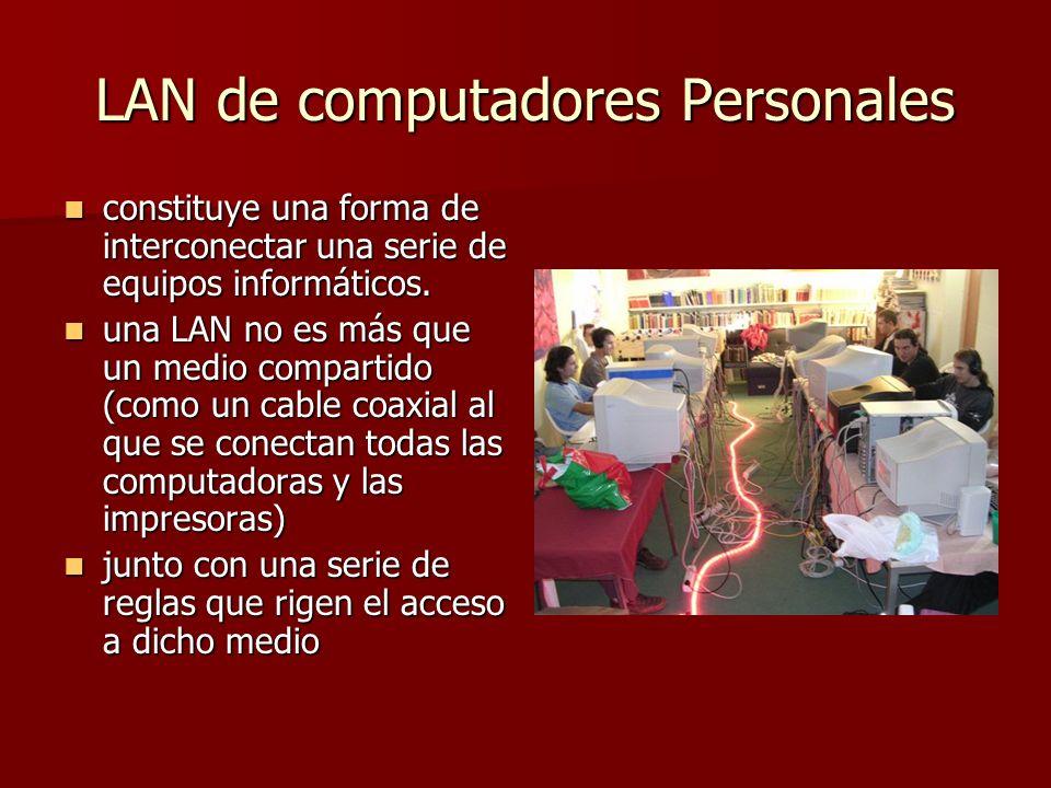 LAN de computadores Personales
