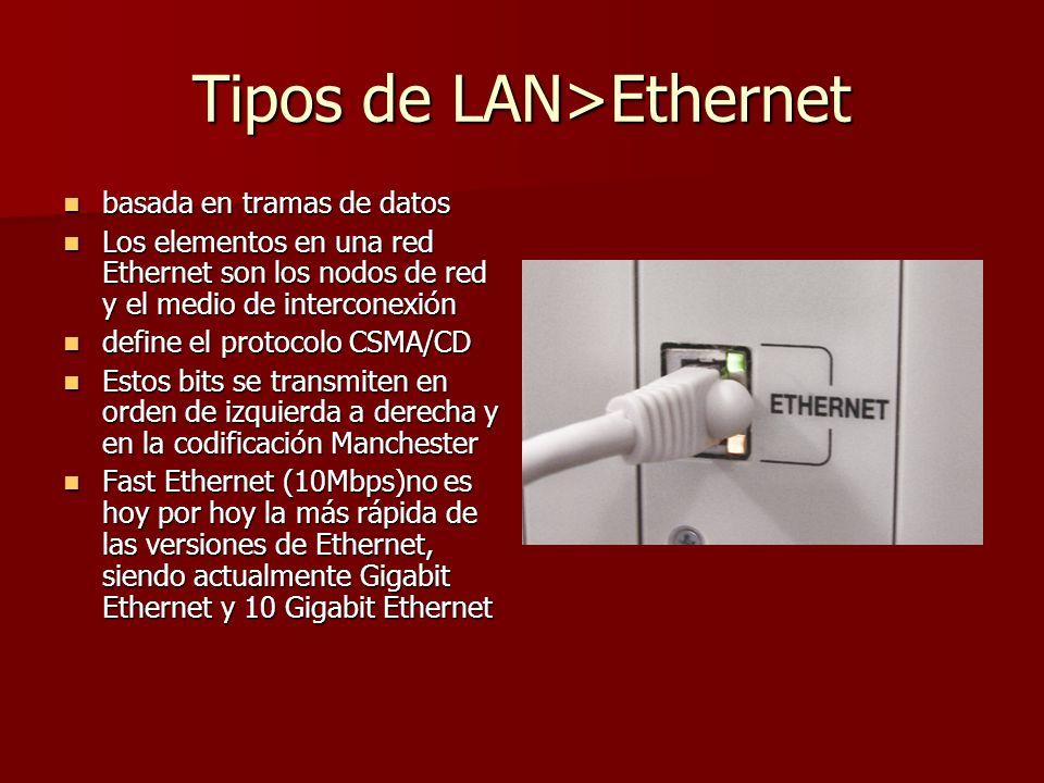 Tipos de LAN>Ethernet