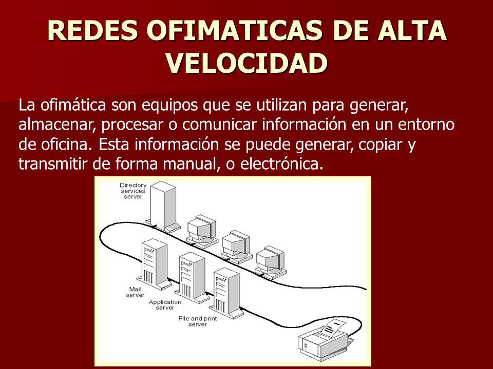 REDES OFIMATICAS DE ALTA VELOCIDAD