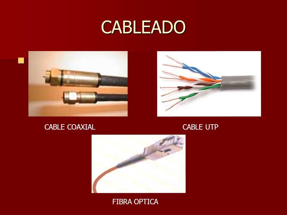 CABLEADO CABLE COAXIAL CABLE UTP FIBRA OPTICA