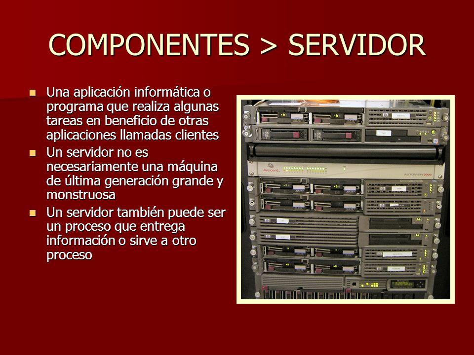 COMPONENTES > SERVIDOR