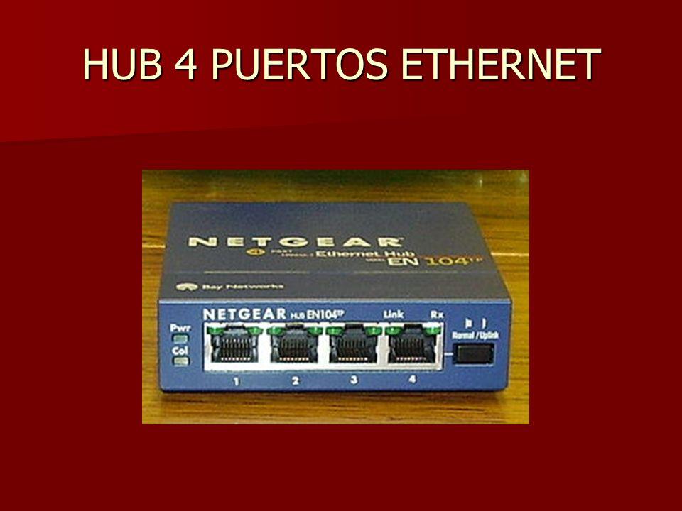 HUB 4 PUERTOS ETHERNET