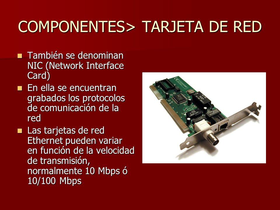 COMPONENTES> TARJETA DE RED