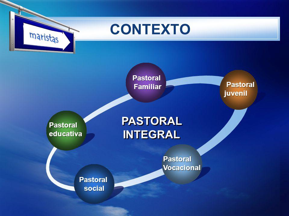 CONTEXTO maristas PASTORAL INTEGRAL Pastoral Familiar Pastoral juvenil