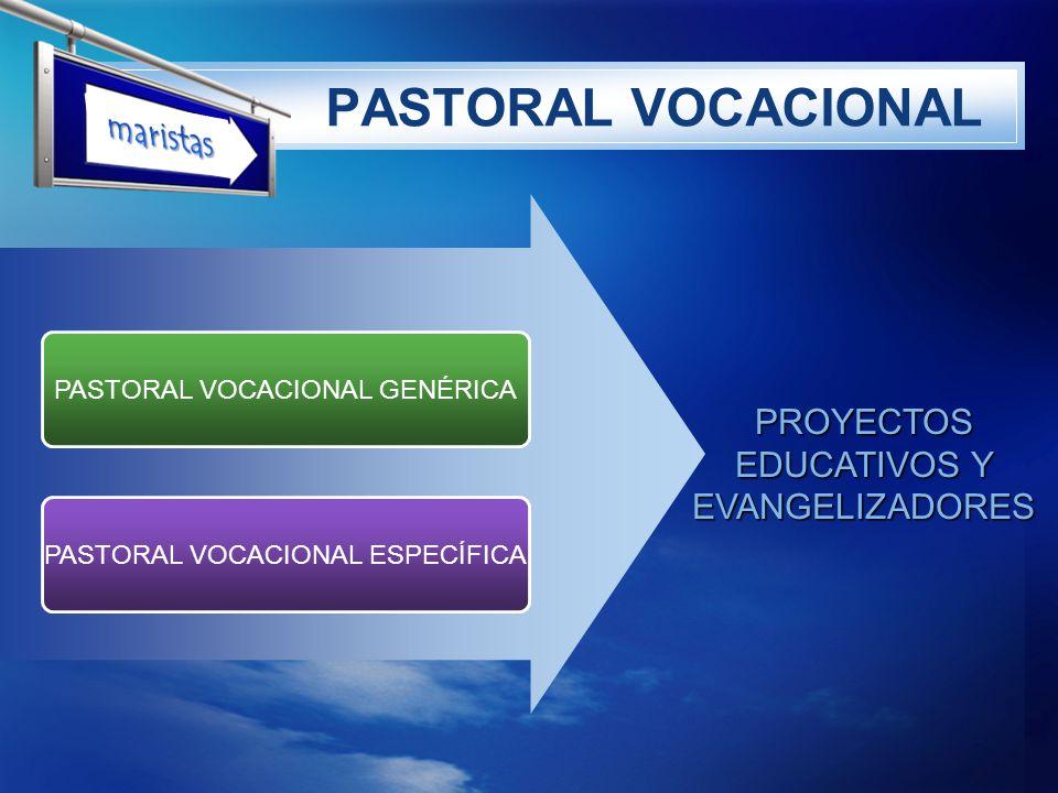 PASTORAL VOCACIONAL maristas PROYECTOS EDUCATIVOS Y EVANGELIZADORES