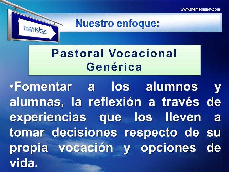 Pastoral Vocacional Genérica