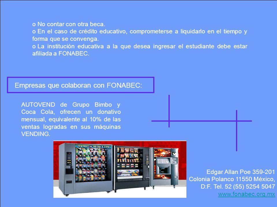 Empresas que colaboran con FONABEC: