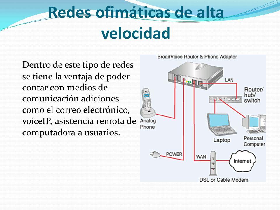 Redes ofimáticas de alta velocidad