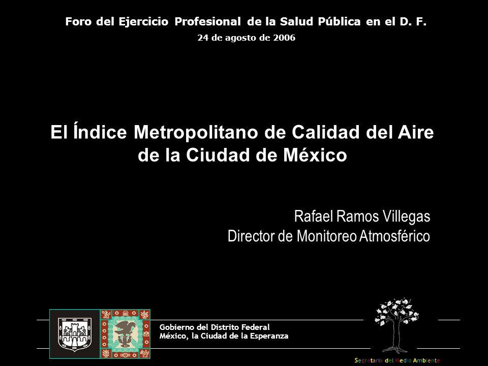 El Índice Metropolitano de Calidad del Aire de la Ciudad de México