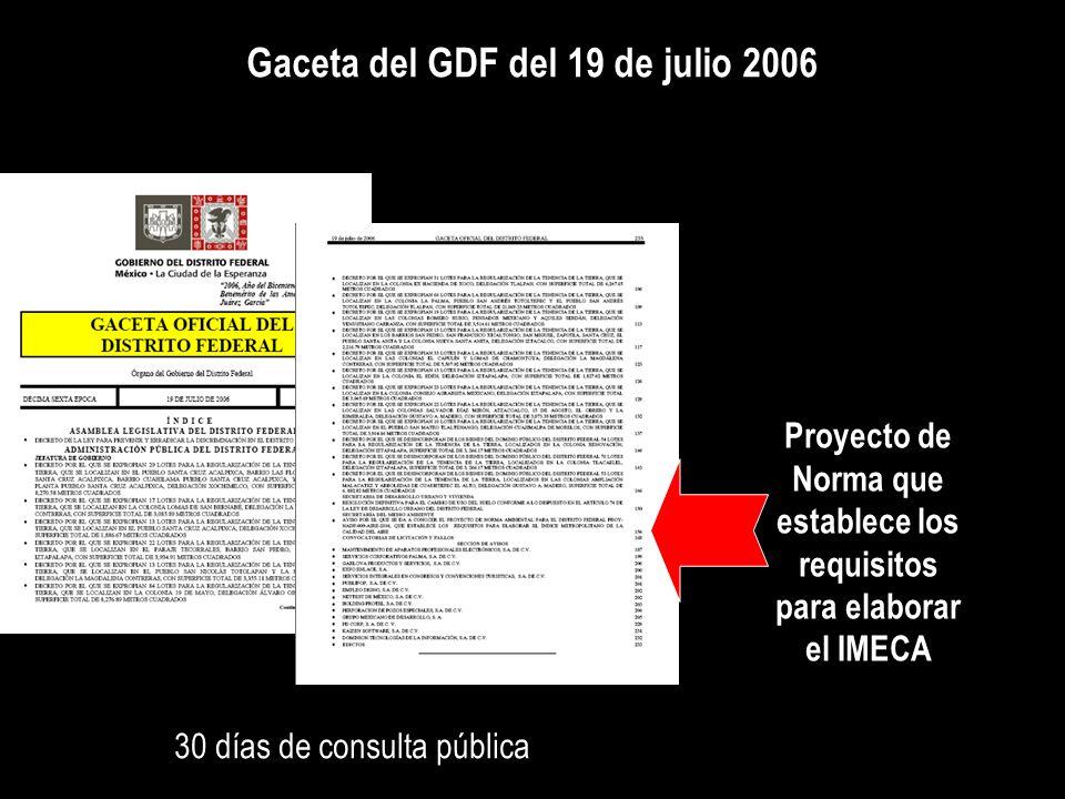 Gaceta del GDF del 19 de julio 2006