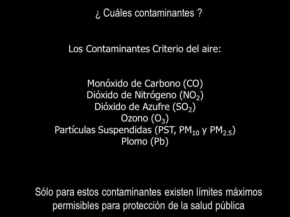 ¿ Cuáles contaminantes
