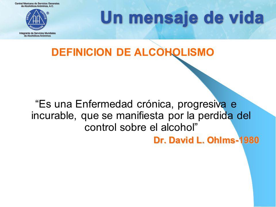 DEFINICION DE ALCOHOLISMO
