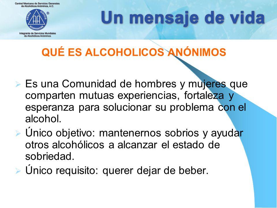 QUÉ ES ALCOHOLICOS ANÓNIMOS