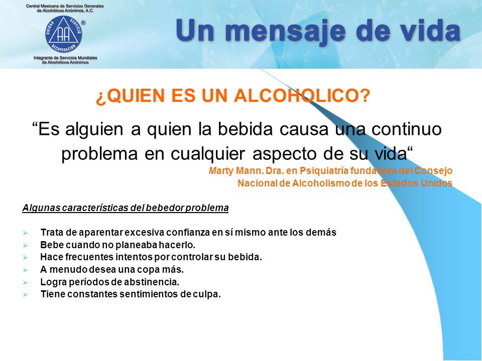 ¿QUIEN ES UN ALCOHOLICO