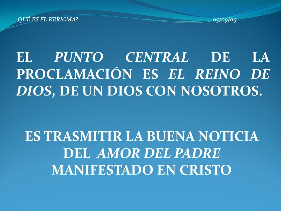 ES TRASMITIR LA BUENA NOTICIA DEL AMOR DEL PADRE MANIFESTADO EN CRISTO