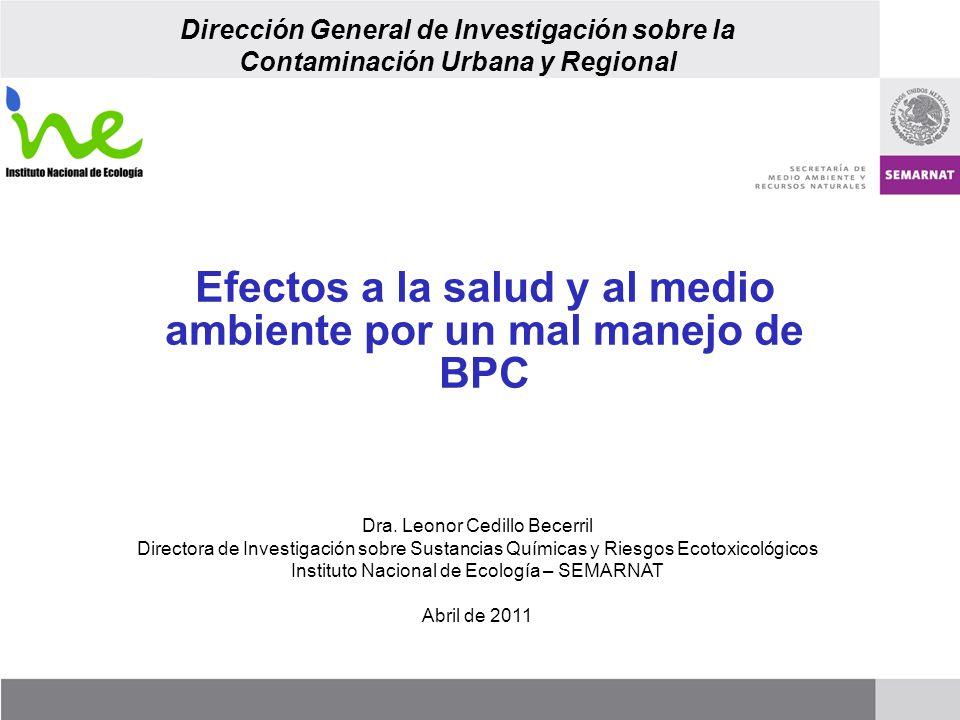Efectos a la salud y al medio ambiente por un mal manejo de BPC